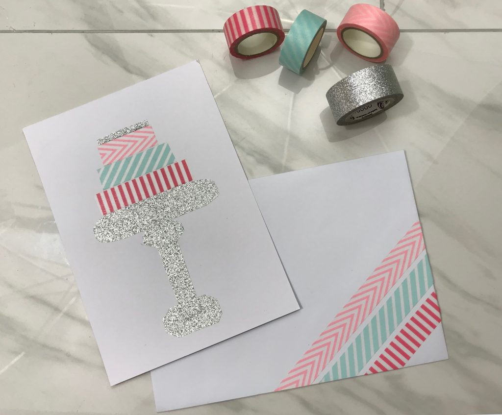 Use colorful washi tape to make a Greeting Card | WildflowersAndWanderlust.com