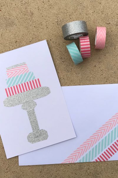 Make an Easy Birthday Cake Card using Washi Tape | WildflowersAndWanderlust.com