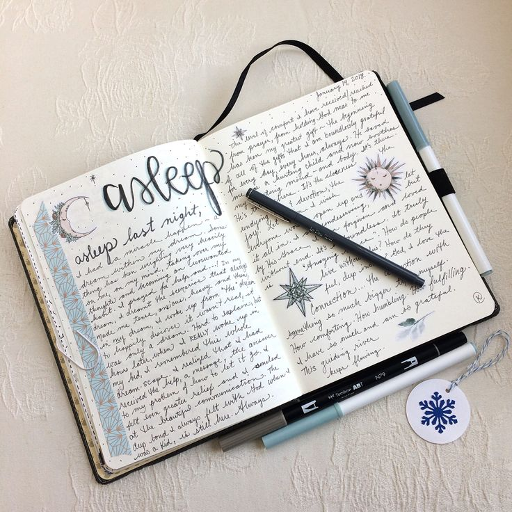 Asleep and Dreaming - Dream log for bullet journal by @kathrynzbrzezny featured on WildflowersAndWanderlust.com