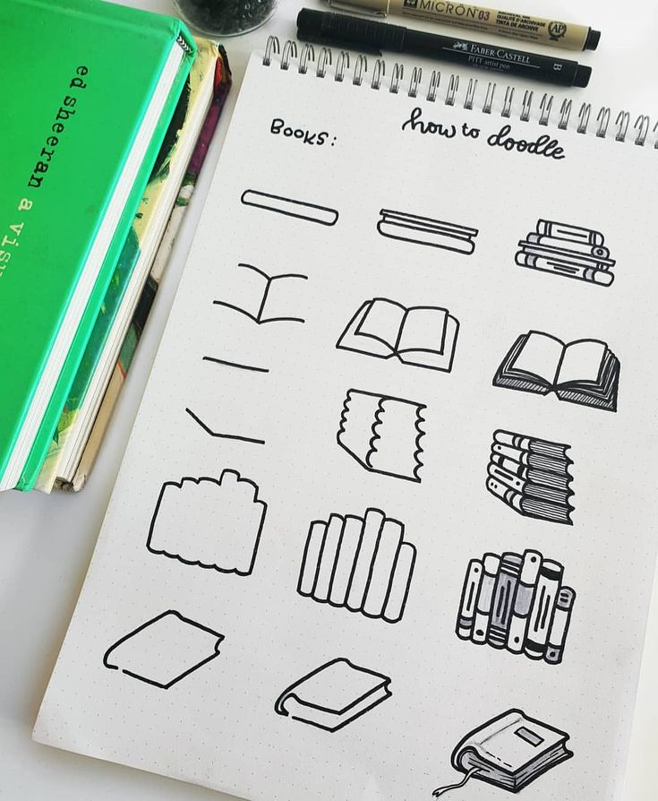 How to Doodle Books via Instagram featured on WildflowersAndWanderlust.com