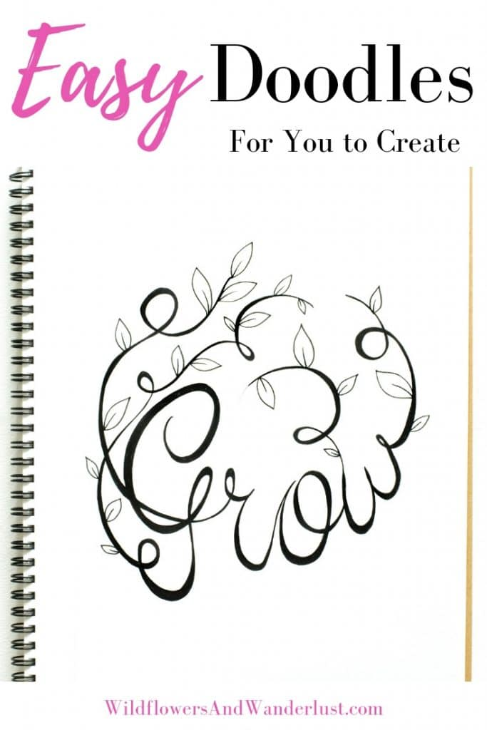 Doodles are a fun way to embellish your bullet journal and show off your creativity. And yes, you can doodle even if you can't draw WildflowersAndWanderlust.com