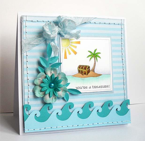 Make this card using free SVG download files available at Bird's Cards and featured on WildflowersAndWanderlust.com