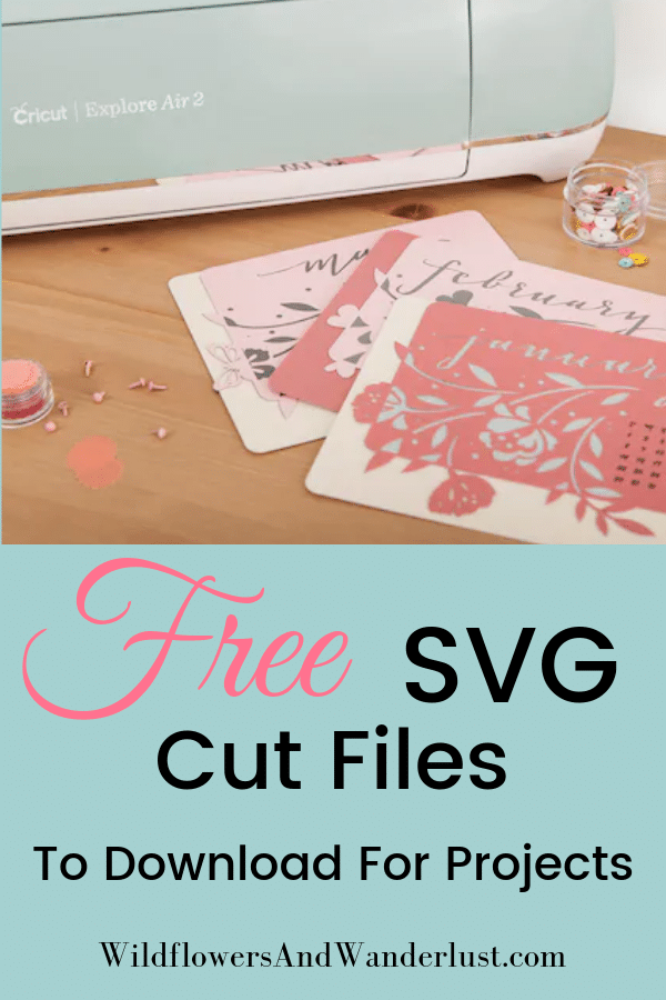 Where to Find Hundreds of Free SVG Cut Files (most with a commercial license) to use in projects | WildflowersAndWanderlust.com