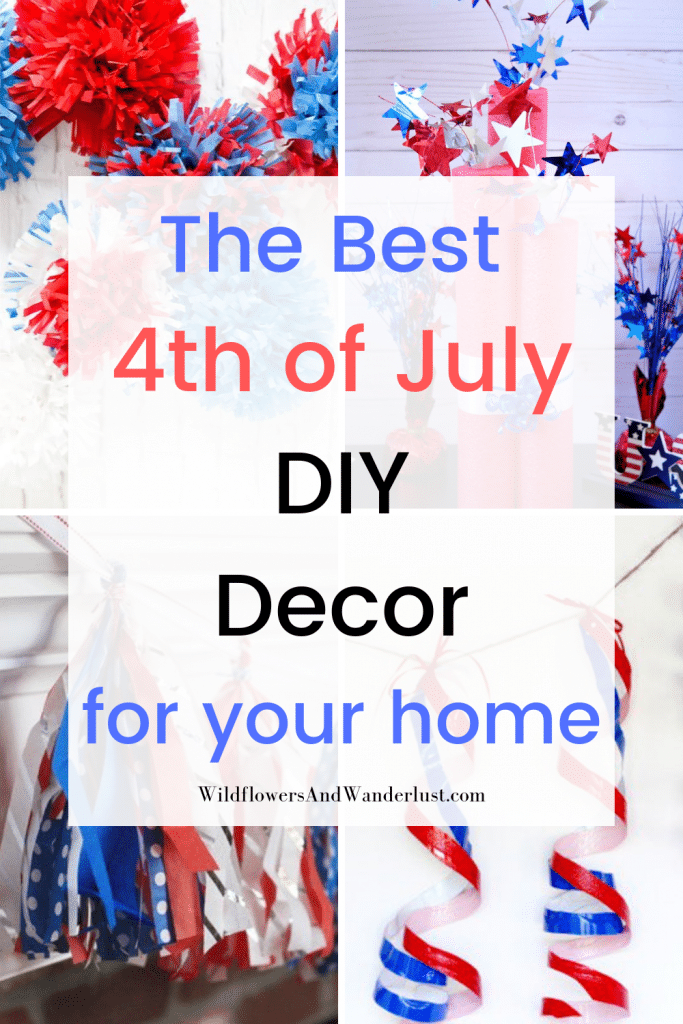 These are the projects that we are using to decorate our homes for the 4th of July this year WildflowersAndWanderlust.com