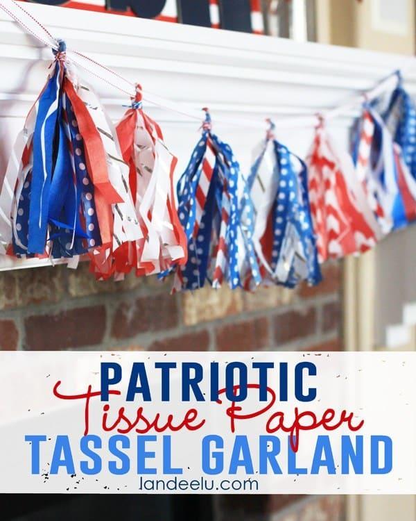 Indoor Patriotic Tassel Garland