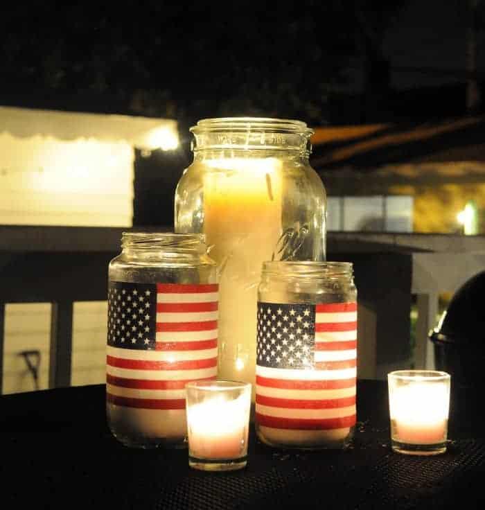 American Flag Lanterns