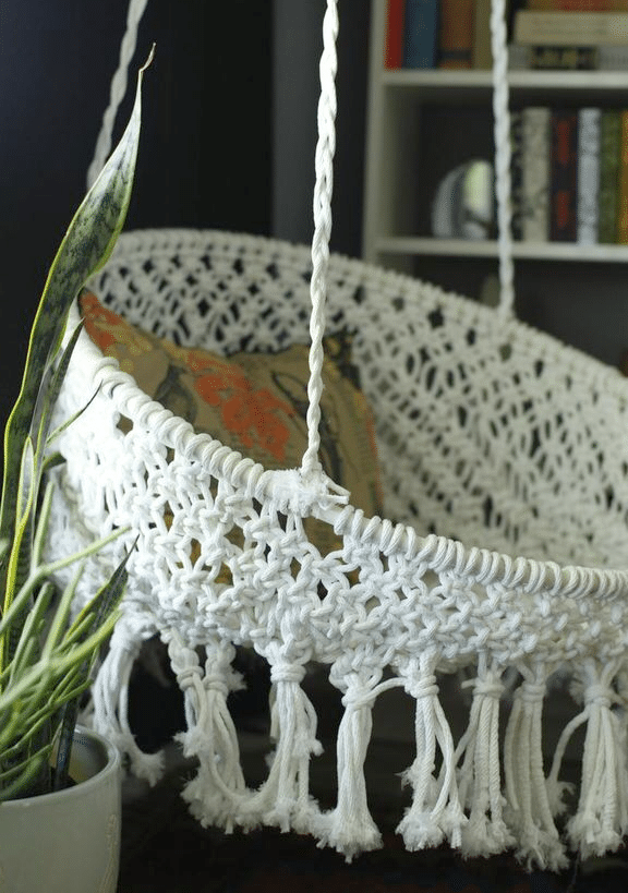 Hanging Macramé Chair