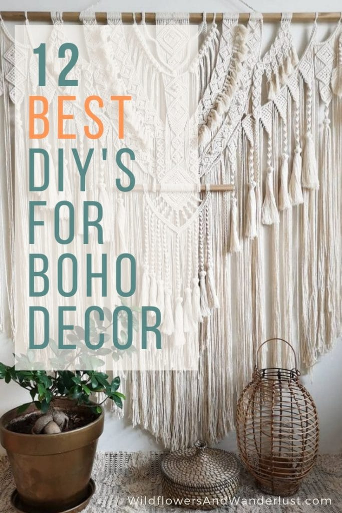 We've got the best boho decor projects you can DIY to give your boho space it's own unique flair | WildflowersAndWanderlust.com