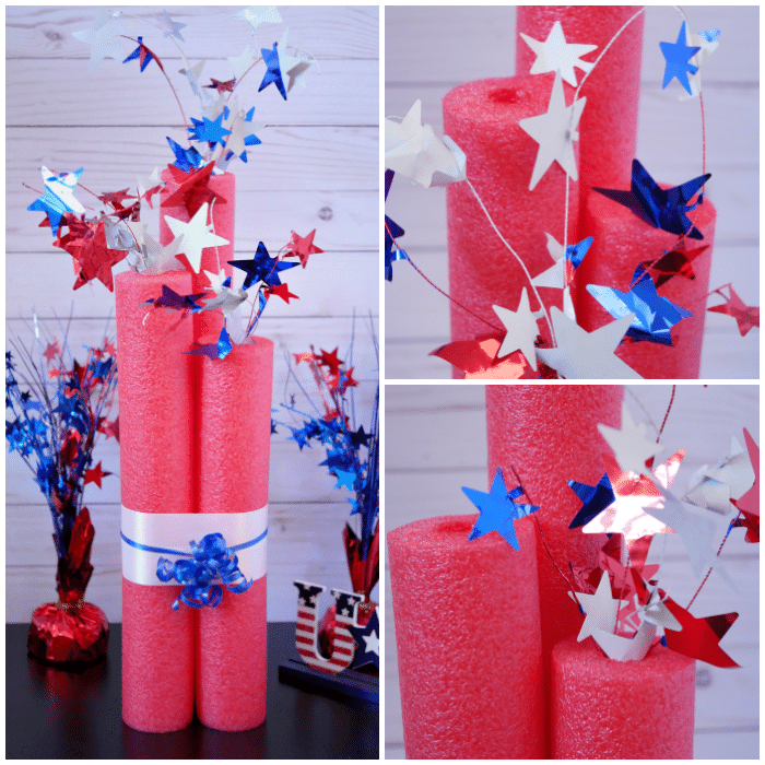 DIY Giant Pool Noodle Firecrackers