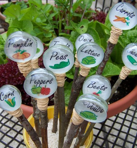Plant markers for the garden are a great craft that you can DIY and sell for profit WildflowersAndWanderlust.com