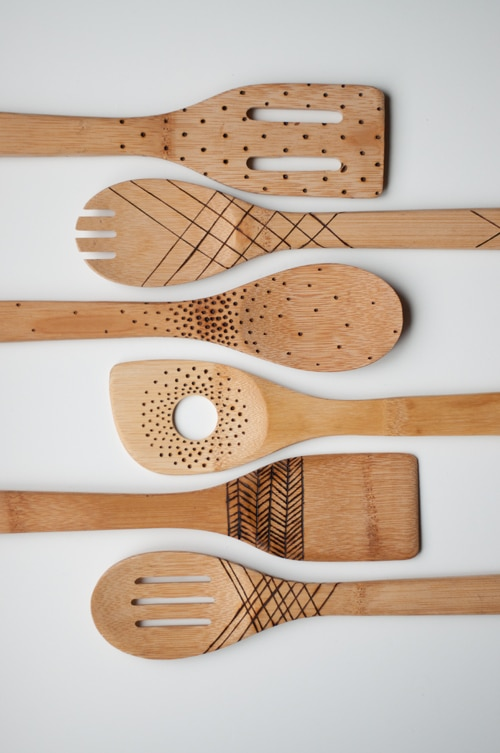 Etched Wooden Spoons are an easy DIY craft that you can make and sell for a profit WildflowersAndWanderlust.com