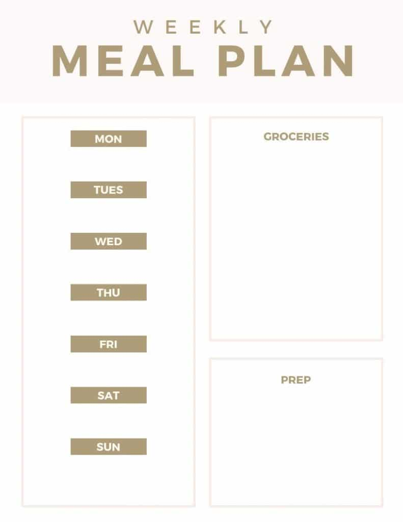 Meal Planning in your bullet journal is a great way to save time and money WildflowersAndWanderlust.com