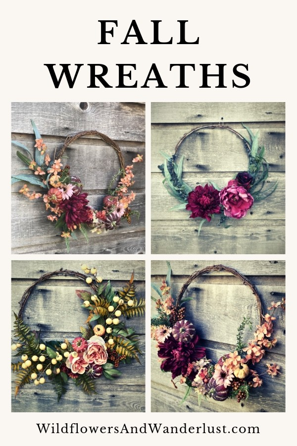 Fall Wreaths to make for your front door this season WildflowersAndWanderlust.com
