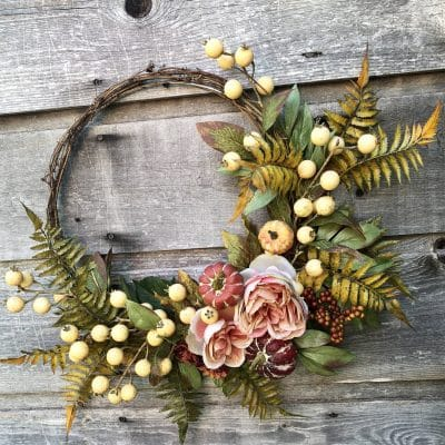 An Easy to Make Fall Wreath Three Ways