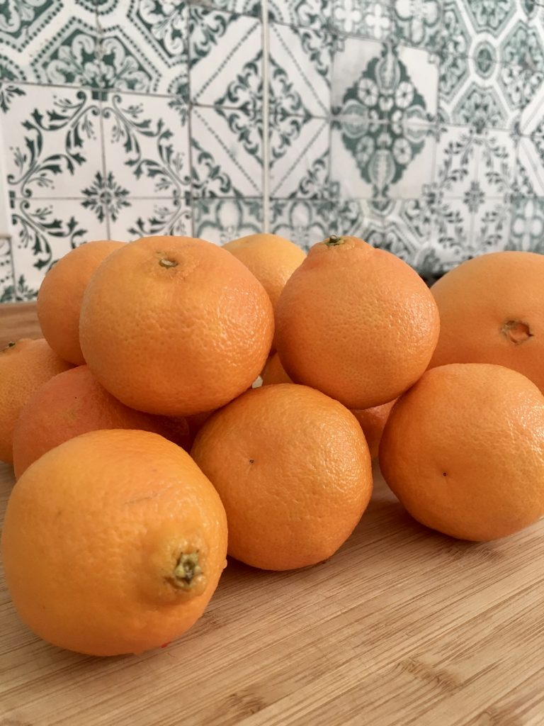 The basic supply for making dried orange slices and orange slice garland is going to be ORANGES - surprise!  WildflowersAndWanderlust.com