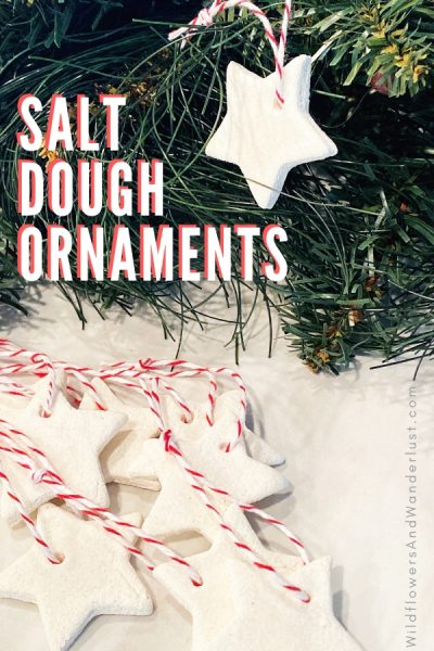 We made salt dough ornaments for our trees this year and we're sharing the recipe and results right here WildflowersAndWanderlust.com