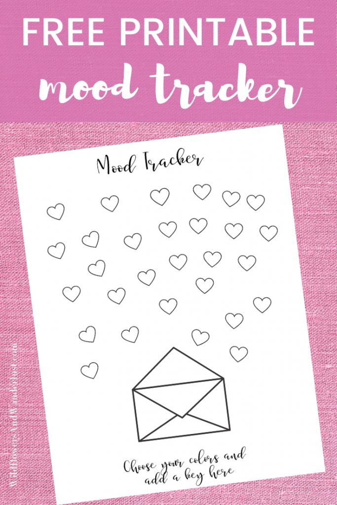 Free printable mood tracker and how to use one WildflowersAndWanderlust.com