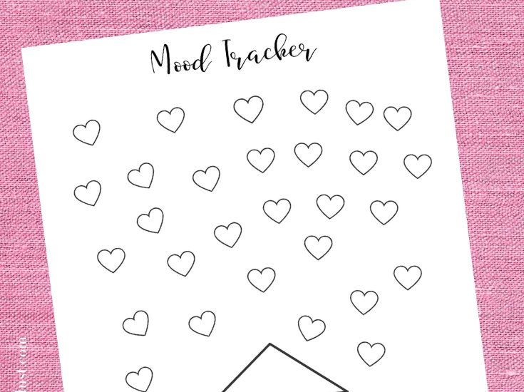 Free printable mood tracker and how to use one WildflowersAndWanderlust.com