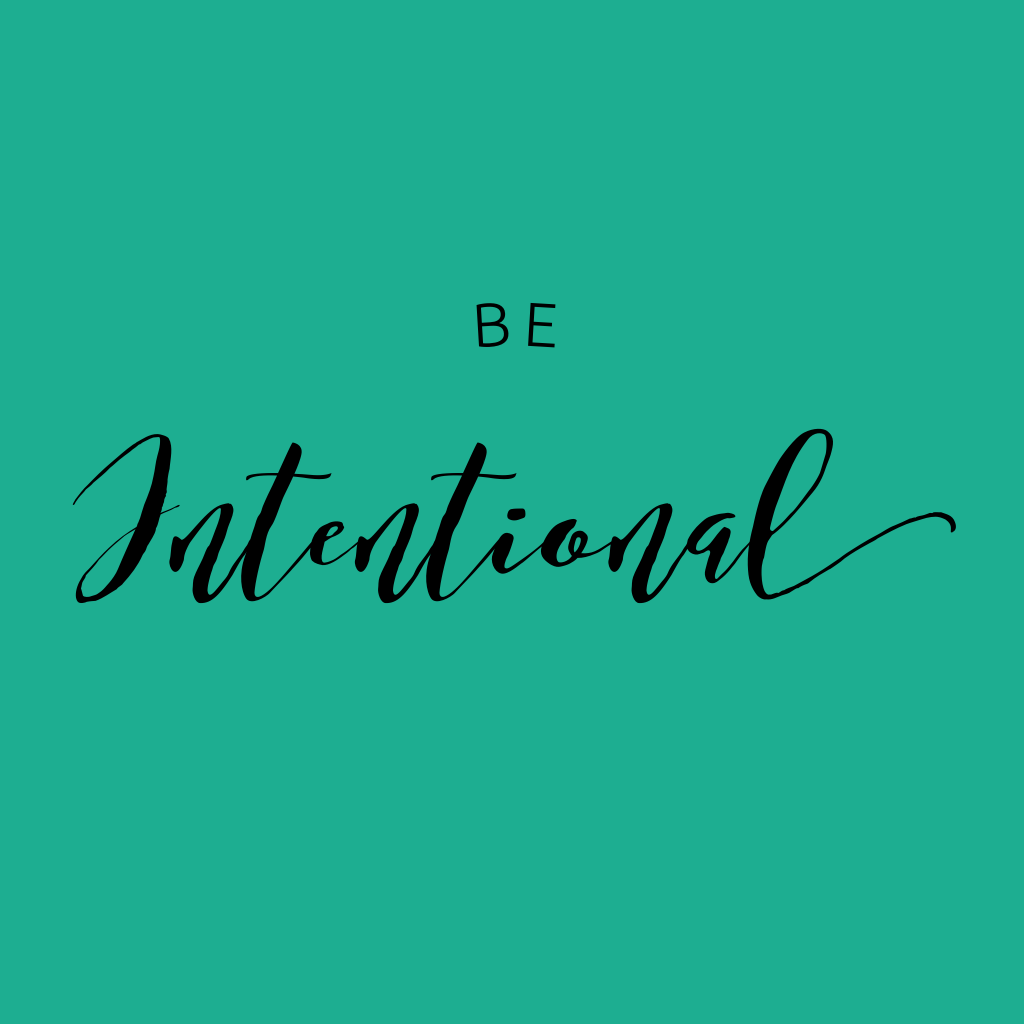 Be intentional! My goal is to be intentional with my time, my energy and my mindset this year! WildflowersAndWanderlust.com