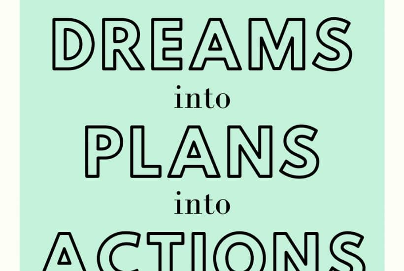 Take your dreams and turn then into actions with a vision board planner in your journal WildflowersAndWanderlust.com