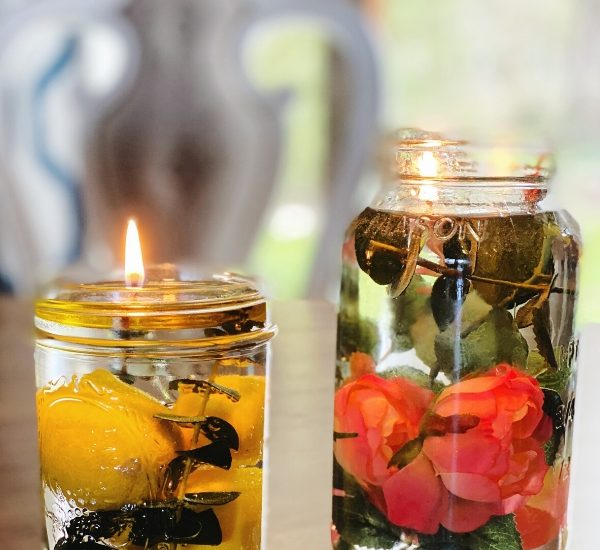 Check out our inspiration for how to create a beautiful oil lamp WildflowersAndWanderlust.com