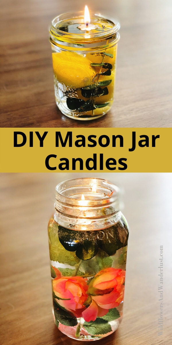 Make your own mason jar candles with our quick tutorial WildflowersAndWanderlust.com