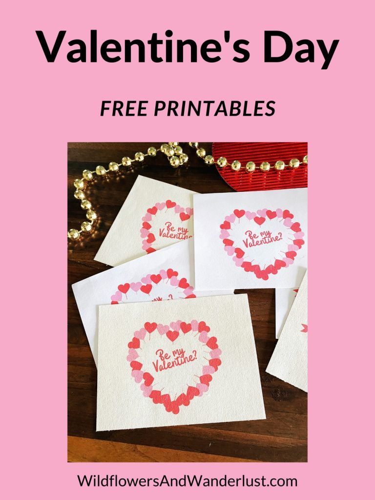 Get your free Valentine's Day printables right here  WildflowersAndWanderlust.com