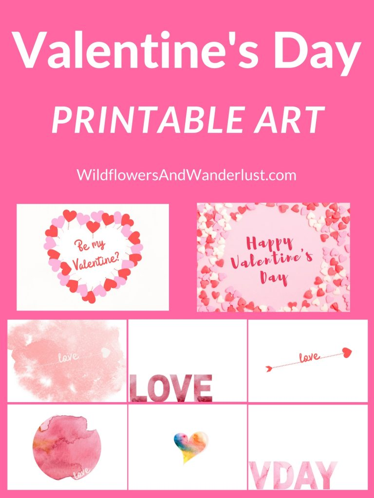 Valentine's Day Printable Art WildflowersAndWanderlust.com