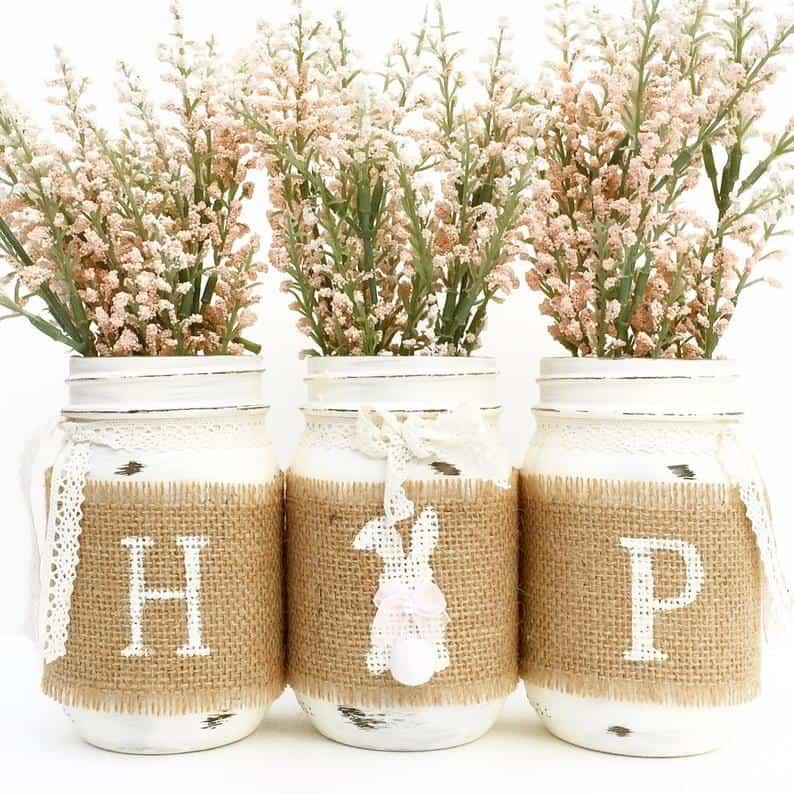 Hope Mason Jar Centerpiece via Etsy