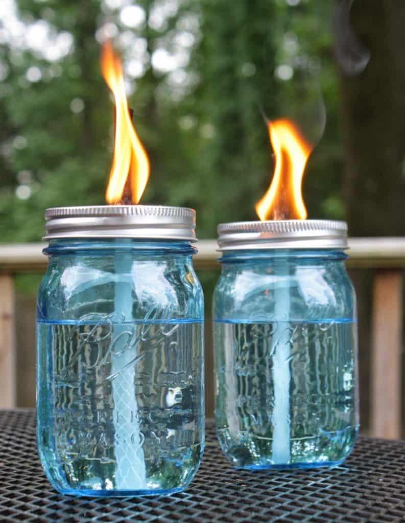 Citronella Mason Jar Candles via Live a Little Wilder Blog