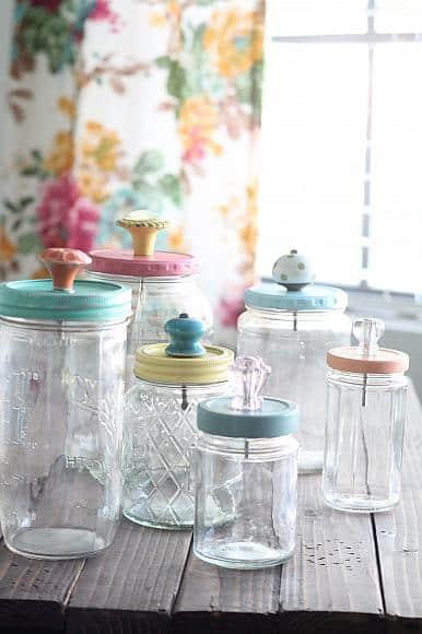 Mason Jar Craft Organizer for your desk via DecoArt Blog