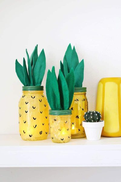 DIY Pineapple Crafts for your home - WildflowersAndWanderlust.com