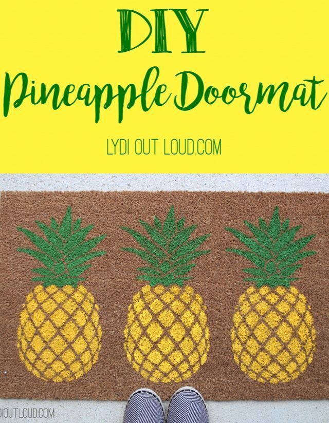 DIY Pineapple Doormat by Lydi Out Loud
