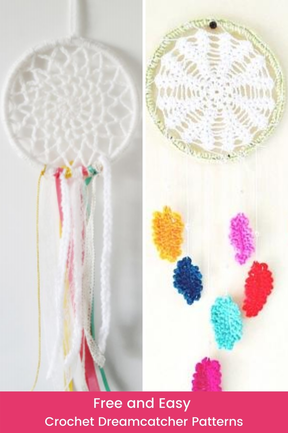 7 Free And Easy Crochet Dreamcatcher Patterns Wildflowers And Wanderlust